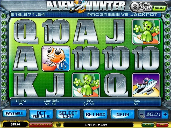 Alien Hunter Slot Machine - Review and Free Online Game