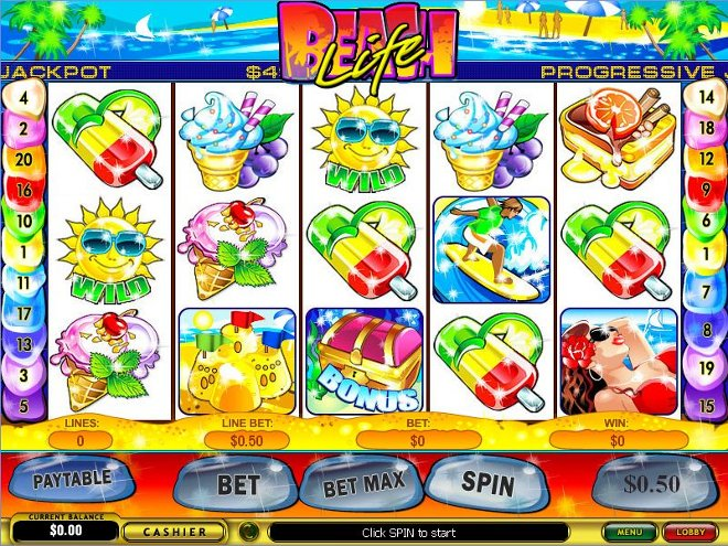 Beach Life Progressive Slot