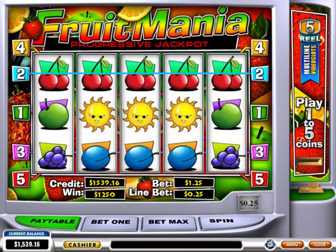 Fruit Mania Progressive Slot