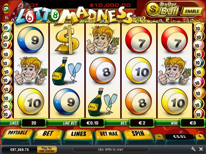free slot machine lotto madness