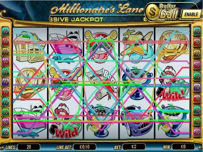 Millionaires Lane Slot Machine